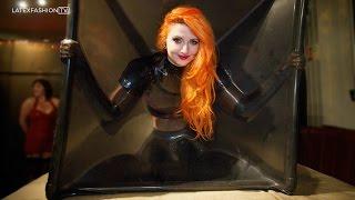 getlinkyoutube.com-Sarah Kawaii tries Latex Bondage at Rubber Cult | LatexFashionTV