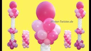 getlinkyoutube.com-Ballondekoration, balloon Wedding decoration, Ballonsäule, balloon column, Hochzeitsdekoration