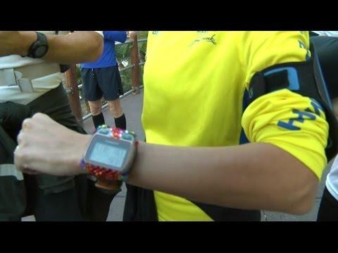 WEARABLE FITNESS GADGET FUN RUN AT CES 2014 - @BBCWORLDS