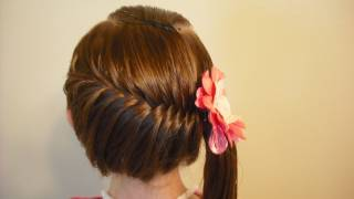 getlinkyoutube.com-Side Swept French Fish Braid Hairstyle