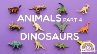 getlinkyoutube.com-Learning Animals Names and Sounds for Kids - Part 4: Dinosaurs
