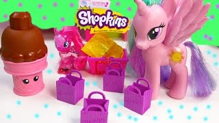 getlinkyoutube.com-MLP Princess Celestia Shopkins Season 2 Pack Blind Bags My Little Pony Pinkie Pie Toy Unboxing