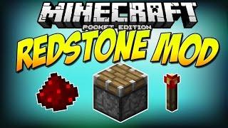 getlinkyoutube.com-[0.10.5] Redstone Mod RELEASED!! - Adds pistons, butons & MORE! - Minecraft Pocket Edition