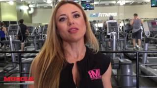 getlinkyoutube.com-IFBB Pro Bojana Vasiljevic trains back 2 weeks out