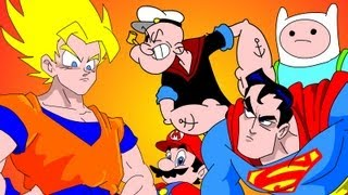getlinkyoutube.com-GOKU vs EVERYBODY UCF 7.2 - SUPERMAN, FINN & JAKE, MARIO & POPEYE