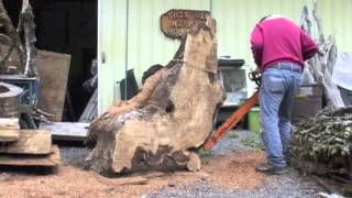 getlinkyoutube.com-Cutting Maple Burl wood