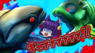 getlinkyoutube.com-【ゆっくり実況】うp主、サメに食べられる!?凶暴すぎるサメが大変なことを…!!【Feed and Grow Fish】