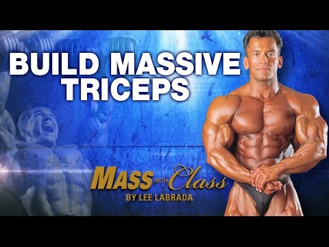 Lee Labrada's Triceps Training: Triceps Workout Routine for Mass