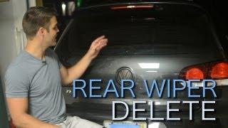 getlinkyoutube.com-VW MKVI Rear Wiper Delete - How To