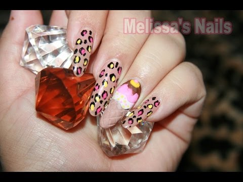 Melissa's Nails Tutorial de Helado Ice Cream Cone Nail Inspired by Nicki Minaj