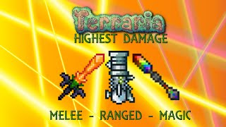 getlinkyoutube.com-Terraria 1.2.4 Highest Damage - Melee - Ranged - Magic (600,000 DPS) -Max Stats