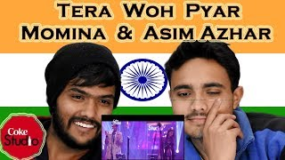 Indian react on Tera Woh Pyar| Coke Studio |momina musteshan |azim azhar| Swaggy D