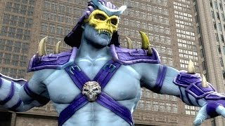 getlinkyoutube.com-Mortal Kombat Komplete Edition - Skeletor Costume Skin Mod Arcade Ladder Gameplay Playthrough