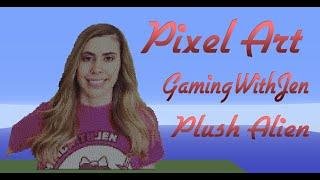 getlinkyoutube.com-Minecraft Pixel Art SpeedBuild | GamingWithJen