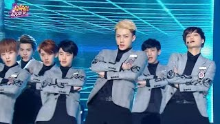 getlinkyoutube.com-【TVPP】EXO - Sorry Sorry (Super Junior), 엑소 - 쏘리 쏘리 (슈퍼주니어) @ 400th Speical Show! Music Core Live