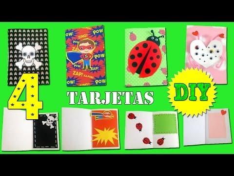 Tarjetas de cumpleaños infantiles hechas a mano | Manualidades fáciles
