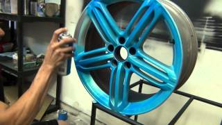 getlinkyoutube.com-BLAZE Orange and BLAZE Blue Plasti Dip - Testing and what the color look like