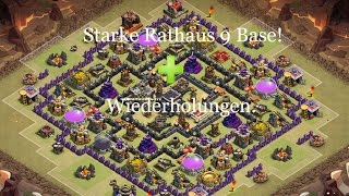 Clash of Clans starke Rathaus 9 ClanKrieg base Aufbau & Wiederholungen