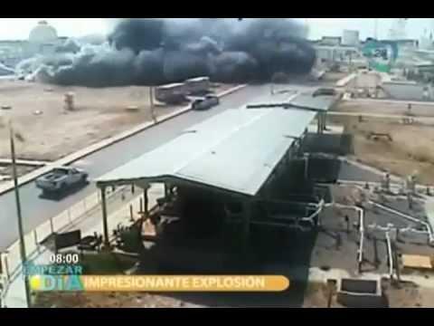 Imágenes de la pasada explosión en instalaciones de PEMEX en Reynosa Tamaulipas