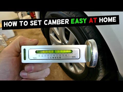HOW TO USE CHEAP CAMBER TOOL   HOW TO SET CAMBER