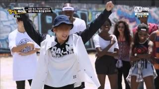 getlinkyoutube.com-BTS | Dance battle (Swag, Trouble, Step Up) AHL ep3 (Cut)