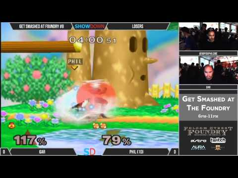 Get Smashed at the Foundry #8 - Losers - gaR (Sheik) vs Phil (Fox)