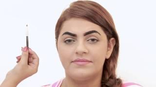 getlinkyoutube.com-ابتهاج العيدروس ـ صبغة حواجب و تشقير حواجب how to dye and bleach your eyebrows