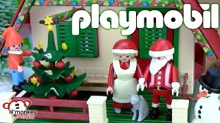 getlinkyoutube.com-Playmobil Christmas! Santa's House and Mrs. Claus!