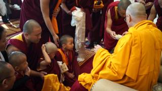 getlinkyoutube.com-The Dalai Lama | Hair Cutting Ceremony for Geshe Gyaltsen | 12 26 2014
