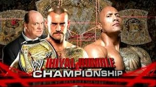 Cm Punk vs The Rock l Royal Rumble 2013 l Combates WWE