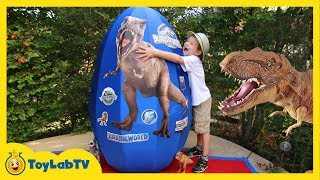 getlinkyoutube.com-GIANT EGG SURPRISE OPENING Jurassic World Dinosaur Toys Kids Video