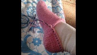 getlinkyoutube.com-Kako se plete peta na carapi - How to Knit a Sock Heel
