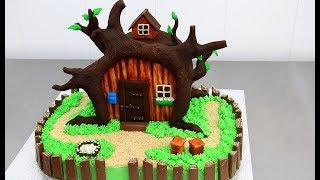 getlinkyoutube.com-MASHA and the Bear Chocolate Cake - Decorating with Modeling Chocolate by CakesStepbyStep
