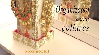 getlinkyoutube.com-DIY Organizador para Collares - Jewelry Organizer