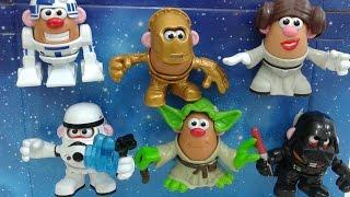 getlinkyoutube.com-Star Wars Mr. Potato Head Yoda, Darth Vader,  C3PO, R2D2, Princesa Leia, Stormtrooper