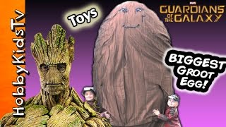 getlinkyoutube.com-Worlds Biggest Surprise GROOT Egg! Marvel Guardians of the Galaxy Play Doh Surprise by HobbyKidsTV