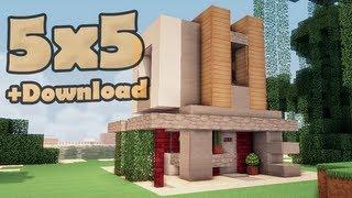 getlinkyoutube.com-Minecraft 5x5 house - мобильный дом 5.