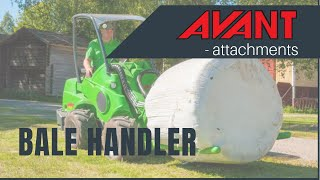 Bale handler, Avant 300-700 Series attachment