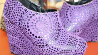 getlinkyoutube.com-DIY Doily Wedge Shoes