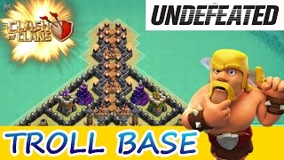 "getlinkyoutube.com-Clash Of Clans | UNDEFEATED TROLL BASE! | ""THE VALLEY OF DEATH"""