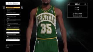 getlinkyoutube.com-NBA 2K16 Seattle Supersonics jerseys and court