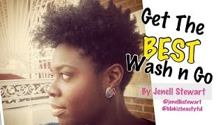 getlinkyoutube.com-439| BEST Wash n Go! 4B/C Hair Tutorial -Jenell Stewart