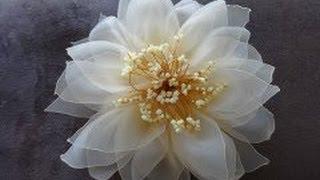 getlinkyoutube.com-Цветок из органзы (Мастер класс)/Organza Flower/