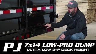 getlinkyoutube.com-#1 SELLER: 7 x 14 PJ Low-Pro Dump Trailer (DL) Walk-around