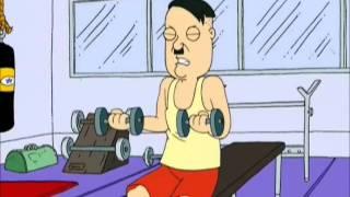 getlinkyoutube.com-Family Guy Hitler at the Gym