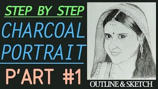 getlinkyoutube.com-Ajabde (Roshni Walia) - Charcoal Portrait Speed Drawing