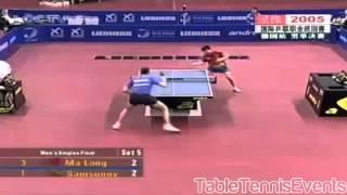 getlinkyoutube.com-Ma Long (16 years old) Vs Vladimir Samsonov: Final [German Open 2005]