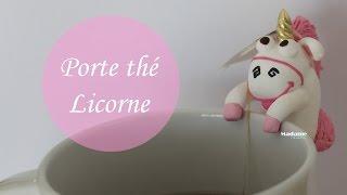 getlinkyoutube.com-Tuto Fimo: Porte sachet de thé Licorne