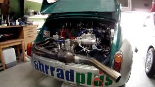 getlinkyoutube.com-Abarth 1000 TC engine awaking after rebuilding
