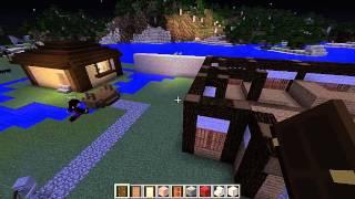 getlinkyoutube.com-【minecraft】2Dの設計図で3Dの城下町造り #4